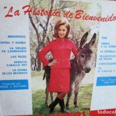 Discos de vinilo: LP DE FLORIDA MARISOL LA HISTORIA DE BIENVENIDO. Lote 229570400
