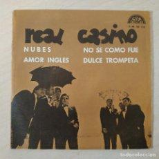 Discos de vinilo: REAL CASINO - NUBES / AMOR INGLES / NO SE COMO FUE / DULCE TROMPETA SINGLE PROMO BERTA, 1970 EX. Lote 229593755