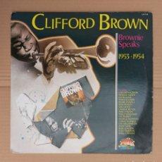 Discos de vinilo: LP CLIFFORD BROWN - BROWNIE SPEAKS-1953-1954. Lote 229618310