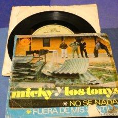 Discos de vinilo: EXPROBS2 DISCO 7 PULGADAS ESTADO VINILO BASTANTE USO MICKY Y LOS TONYS NO SE NADAR. Lote 229653765