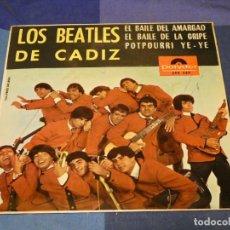 Discos de vinilo: EXPROBS2 DISCO 7 PULGADAS ESTADO CORRECTO LOS BEATLES DE CADIZ EL BAILE DEL AMARGAO. Lote 229654990