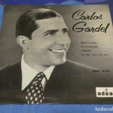Discos de vinilo: EXPROBS2 DISCO 7 PULGADAS VINILO BUEN ESTADO CARLOS GARDEL MANO A MANO. Lote 229660325