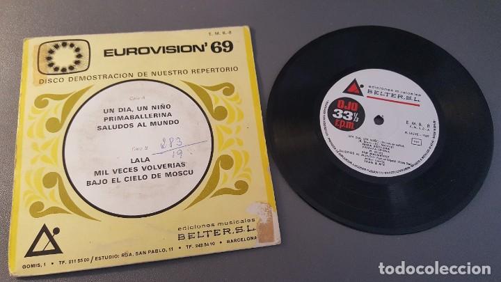 EUROVISION 69 UN DÍA, UN NIÑO, PRIMABALLERINA Y TRES MÁS (Música - Discos de Vinilo - EPs - Festival de Eurovisión)