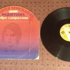 Discos de vinilo: FELIPE CAMPUZANO - INQUIETUDES - MAXI - SPAIN - AMBAR - IBL -. Lote 229693955
