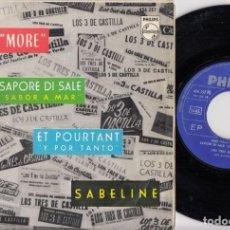 Disques de vinyle: LOS TRES 3 DE CASTILLA - MAS MORE + 3 - EP DE VINILO. Lote 229715150