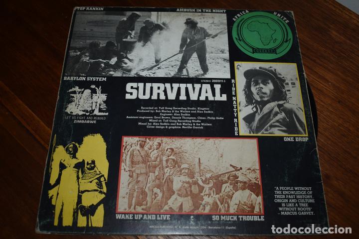 Discos de vinilo: DISCO VINILO LP BOB MARLEY & THE WAILERS SURVIVAL - Foto 2 - 229759025