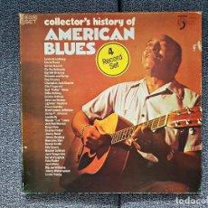 Discos de vinilo: AMERICAN BLUES COLLECTOR´S HISTORY OF (ALBUM/CAJA CON 4 DISCOS) AÑO 1.980. ALBUM CUADRUPLE.. Lote 229778005