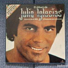 Discos de vinilo: EL ALBUM DE JULIO IGLESIAS. HISTORIA DE UN MITO (ALBUM/CAJA 3 DISCOS DEL AÑO 1.969 AL 1.973). Lote 229778415