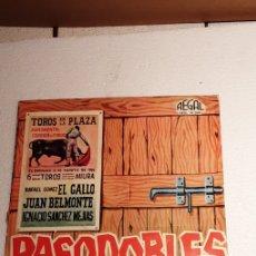 Discos de vinilo: DISCO PASODOBLES CON DESPLEGABLE TAURINO. Lote 229780265