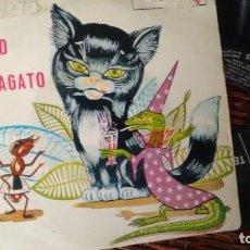 Discos de vinil: SINGLE (VINILO) CON EL CUENTO INFANTIL EL GATO MARAGATO AÑOS 60. Lote 229793910