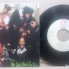 Discos de vinilo: GRANDMASTER MELLE MEL & THE FURIOUS FIVE / WE DON'T WORK FOR FREE / SINGLE 7 INCH. Lote 229798065