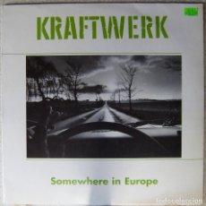 Discos de vinilo: KRAFTWERK.SOMEWHERE IN EUROPE...NO OFICIAL..VINILO BLANCO ED ESPECIAL.RARO....EX. Lote 229804500
