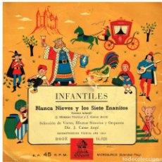 Discos de vinilo: INFANTILES - BLANCA NIEVES Y LOS SIETE ENANITOS - EP 1958?. Lote 229809605