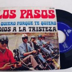 Disques de vinyle: LOS PASOS-SINGLE TE QUIERO PORQUE TE QUIERO. Lote 229844930