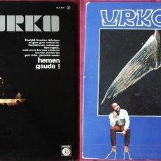 Discos de vinilo: LOTE DE 2 DISCOS DE URKO. HEMEN GAUDE Y GOIHERRI. LPS DE VINILO.. Lote 229738815