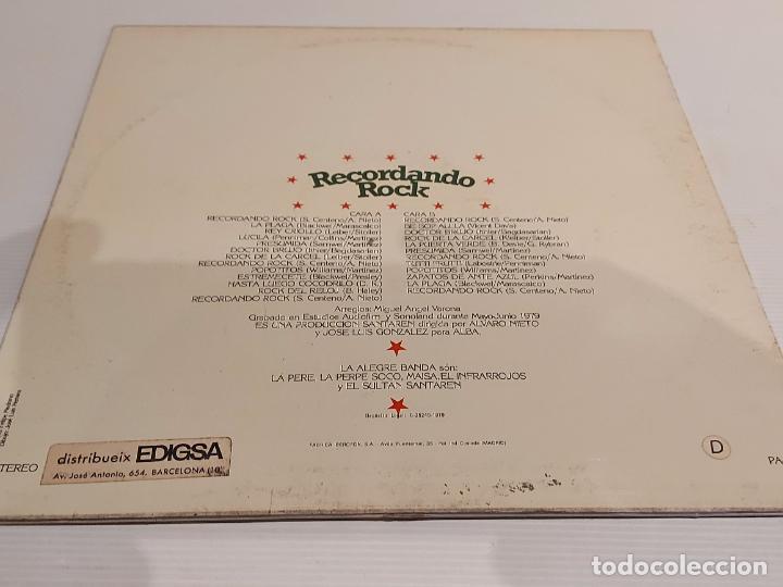 Discos de vinilo: LA ALEGRE BANDA / RECORDANDO ROCK / LP - ALBA-1979 / MBC. ***/*** - Foto 2 - 229899545