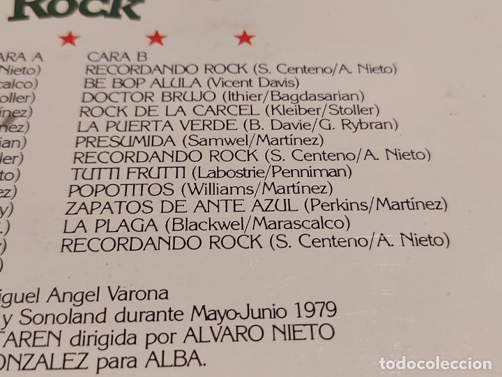 Discos de vinilo: LA ALEGRE BANDA / RECORDANDO ROCK / LP - ALBA-1979 / MBC. ***/*** - Foto 4 - 229899545