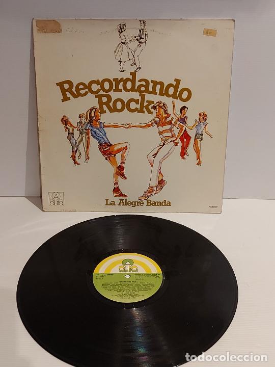 LA ALEGRE BANDA / RECORDANDO ROCK / LP - ALBA-1979 / MBC. ***/*** (Música - Discos - LP Vinilo - Rock & Roll)