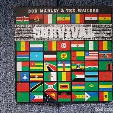 Discos de vinilo: BOB MARLEY & THE WAILERS - SURVIVAL. AÑO 1.979. CONTIENE ENCARTE CON LETRAS CANCIONES.. Lote 229902360