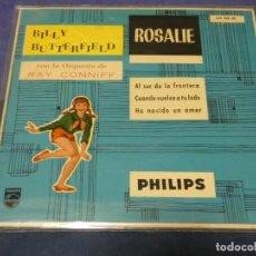 Discos de vinilo: EXPROBS0 BILLY BUTTERFIELD ROSALIE CON LA ORQUESTA DE RAY CONIFF. Lote 230000340