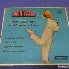 Discos de vinilo: EXPROBS0 DISCO 7 PULGADAS BUEN ESTADO RAY CONNIFF SOUTH PACIFIC. Lote 230001925
