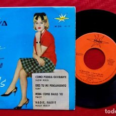 Discos de vinilo: LA VOZ DE KENYA. SINGLE. COMO PODRIA OLVIDARTE + 3 CANCIONES. AÑO: 1964.. Lote 230008955