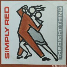 Discos de vinilo: MAXI SINGLE SIMPLY RED - THE RIGHT THING/1987. Lote 230016155