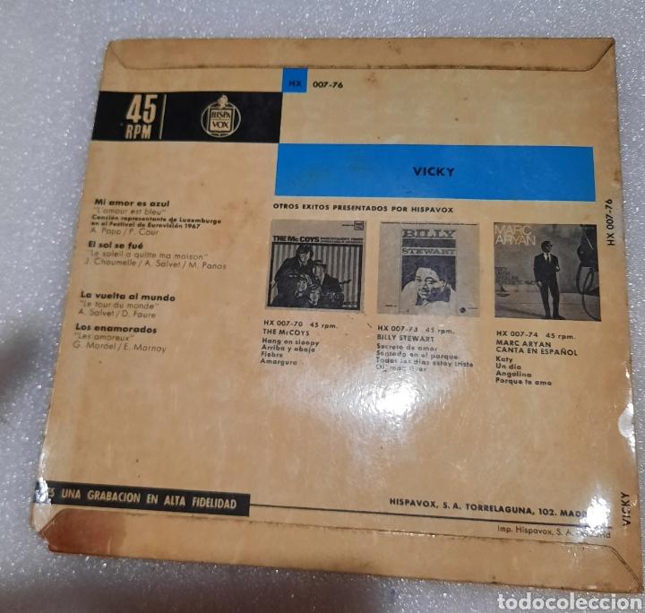 Discos de vinilo: Vicky - mi amor es azul + 3 - Foto 2 - 230023285