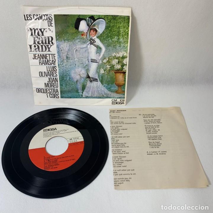 SINGLE LES CANÇONS DE MY FAIR LADY -- JEANNETTE RAMSAY -- LLUÍS OLIVARES ... --- ESPAÑA VG (Música - Discos - Singles Vinilo - Solistas Españoles de los 50 y 60)