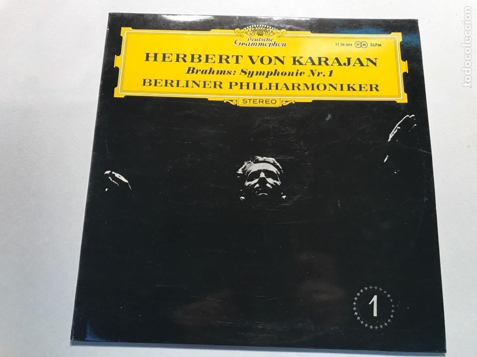 VINILO HERBERT VON KARAJAN BRAHMS SYMPHONY NR1 (Música - Discos - LP Vinilo - Clásica, Ópera, Zarzuela y Marchas)