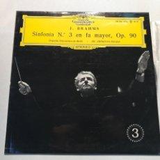 Discos de vinilo: J,BRAHMS SINFONIA NUM.3 EN FA MAYOR ,OP.90. Lote 230036435
