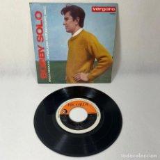 Discos de vinilo: SINGLE BOBBY SOLO CREDI A ME- HA, HA... AH QUALCOSA RESTERA' - 1964 -- BARCELONA VG+. Lote 230036935