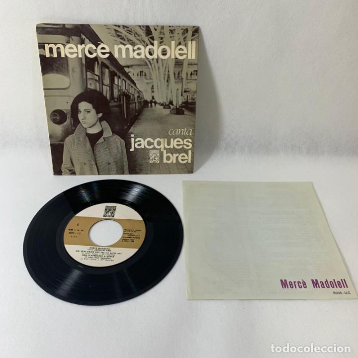 SINGLE MERCÈ MADOLELL -- CANTA JACQUES BREL -- VG++ (Música - Discos - Singles Vinilo - Solistas Españoles de los 50 y 60)