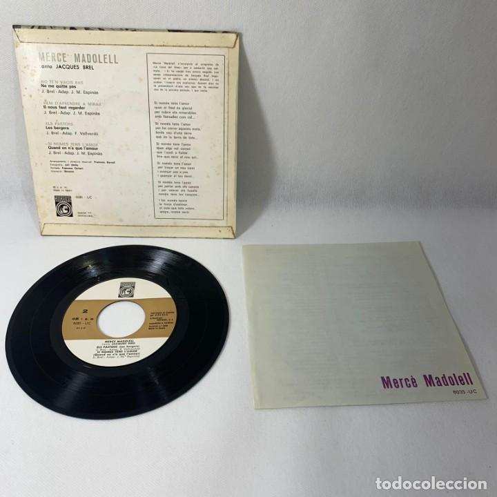 Discos de vinilo: SINGLE MERCÈ MADOLELL -- CANTA JACQUES BREL -- VG++ - Foto 2 - 230038135