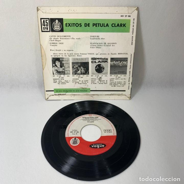 Discos de vinilo: SINGLE EXITOS DE PETULA CLARK ......! --CANTO DULCEMENTE/ JUMBLE SALE -- VG - Foto 2 - 230047300