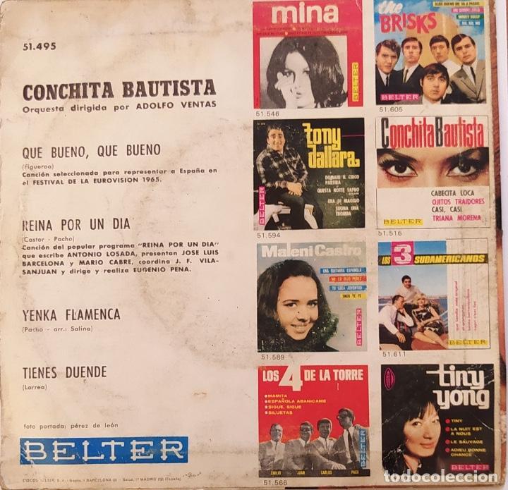 """Discos de vinilo: EUROVISIÓN 1965 - ESPAÑA. """"Qué bueno, qué bueno"""" - Foto 2 - 230077725"""