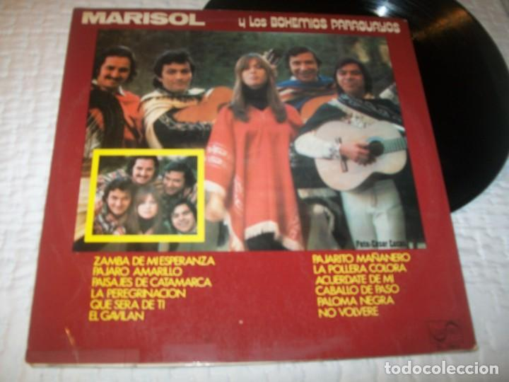 Discos de vinilo: MARISOL - Y LOS BOHEMIOS PARAGUAYOS ..LP DE ZAFIRO DE 1972 - 12 TEMAS POPULARES DE LATINOAMERICA - Foto 2 - 230087550