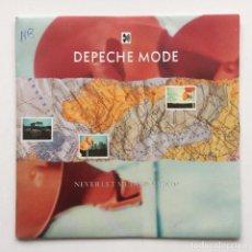 Discos de vinilo: DEPECHE MODE – NEVER LET ME DOWN AGAIN / PLEASURE, LITTLE TREASURE. UK,1987. Lote 230108895