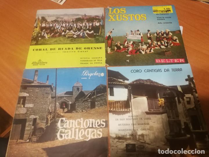 4 SINGLES CANCIONES GALICIA FOLK, LOS XUSTOS, CORAL DE RUADA, CORO CANTIGAS A TERRA.... BUEN ESTADO (Música - Discos - Singles Vinilo - Country y Folk)