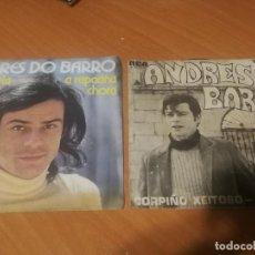 Disques de vinyle: 2 SINGLES ANDRÉS DO BARRO - CORPIÑO XEITOSO / RAPACIÑA, MANUELA, A RAPACIÑA CHORA. BUEN ESTADO. Lote 230122280
