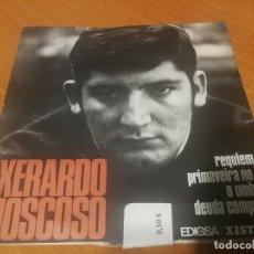 Discos de vinilo: XERARDO MOSCOSO REQUIEN, EDIGSA 1968 ACCION GALEGA VOCES CEIBES PROLOGO MANUEL MARIA. Lote 230123275