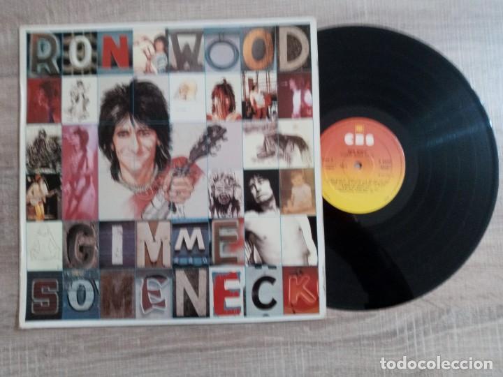 RON WOOD.LP.GIMME SOME NECK1979 EDICION ESPAÑOLA CBS. .ORIGINAL.ROLLINGS STONES (Música - Discos - LP Vinilo - Rock & Roll)