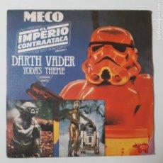 Discos de vinilo: MECO (GUERRA GALAXIAS EL IMPERIO CONTRAATACA (DARTH VADER YODA'S THEME)- SPAIN SINGLE 1980.. Lote 230172000