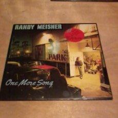 Discos de vinilo: RANDY MEISNR LP ONE MORE SONG LETRAS HOL. 1980. Lote 230172110