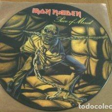 Discos de vinilo: IRON MAIDEN – PIECE OF MIND -LP PICTURE-. Lote 243868665