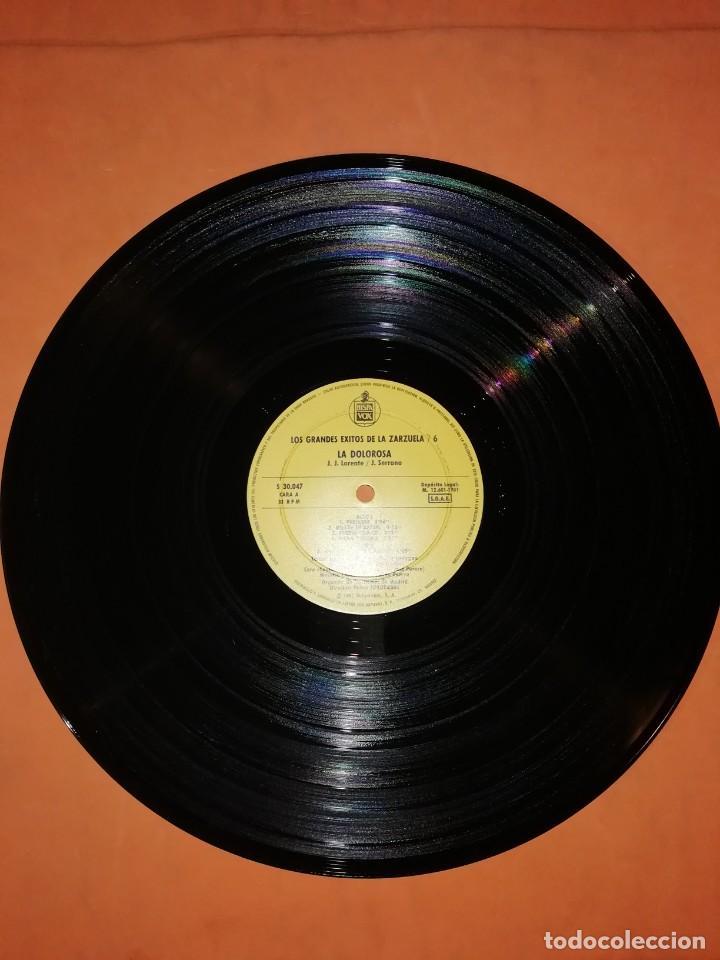 Discos de vinilo: LOS GRANDES EXITOS DE LA ZARZUELA. VOL. 6. LA DOLOROSA . JOSE SERRANO. HISPAVOX 1981 - Foto 6 - 230232715