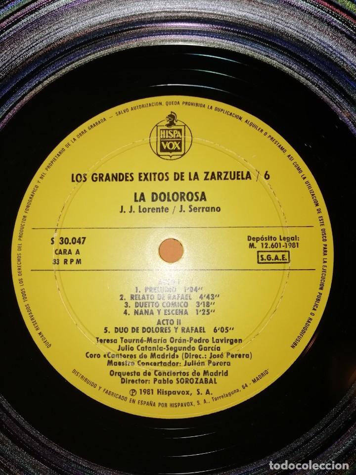 Discos de vinilo: LOS GRANDES EXITOS DE LA ZARZUELA. VOL. 6. LA DOLOROSA . JOSE SERRANO. HISPAVOX 1981 - Foto 7 - 230232715