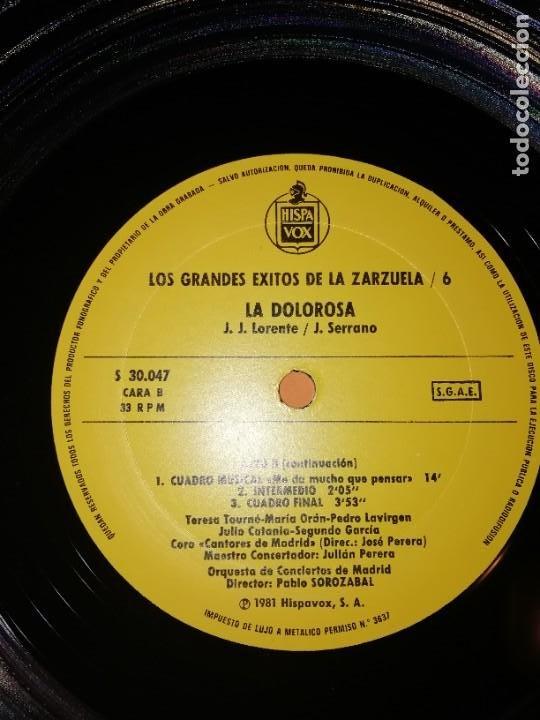 Discos de vinilo: LOS GRANDES EXITOS DE LA ZARZUELA. VOL. 6. LA DOLOROSA . JOSE SERRANO. HISPAVOX 1981 - Foto 5 - 230232715