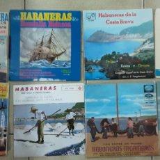 Discos de vinilo: LOTE DE 8 EP'S DE HABANERAS. Lote 230236175