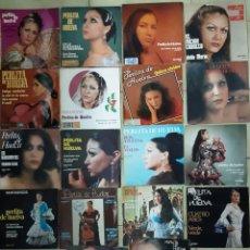 Discos de vinilo: LOTE DE 16 SINGLES Y 2 EP'S PERLITA DE HUELVA. Lote 230256445